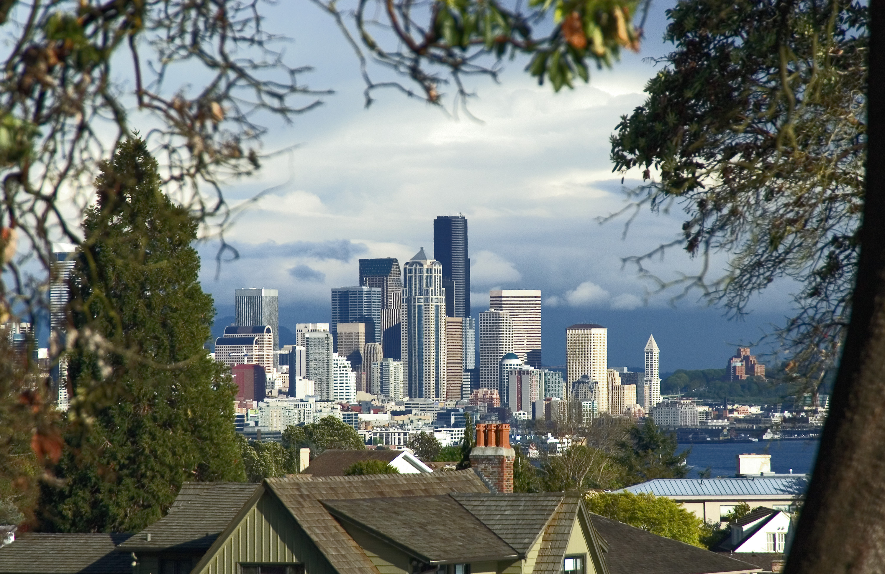 Downtown Seattle View from Queen Anne