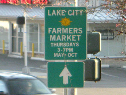 Lake City – Farmers Market sign