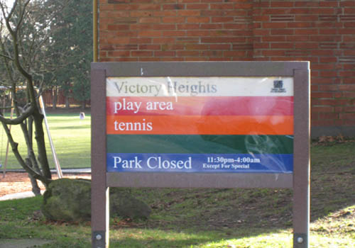 Victory Heights – Park Sign