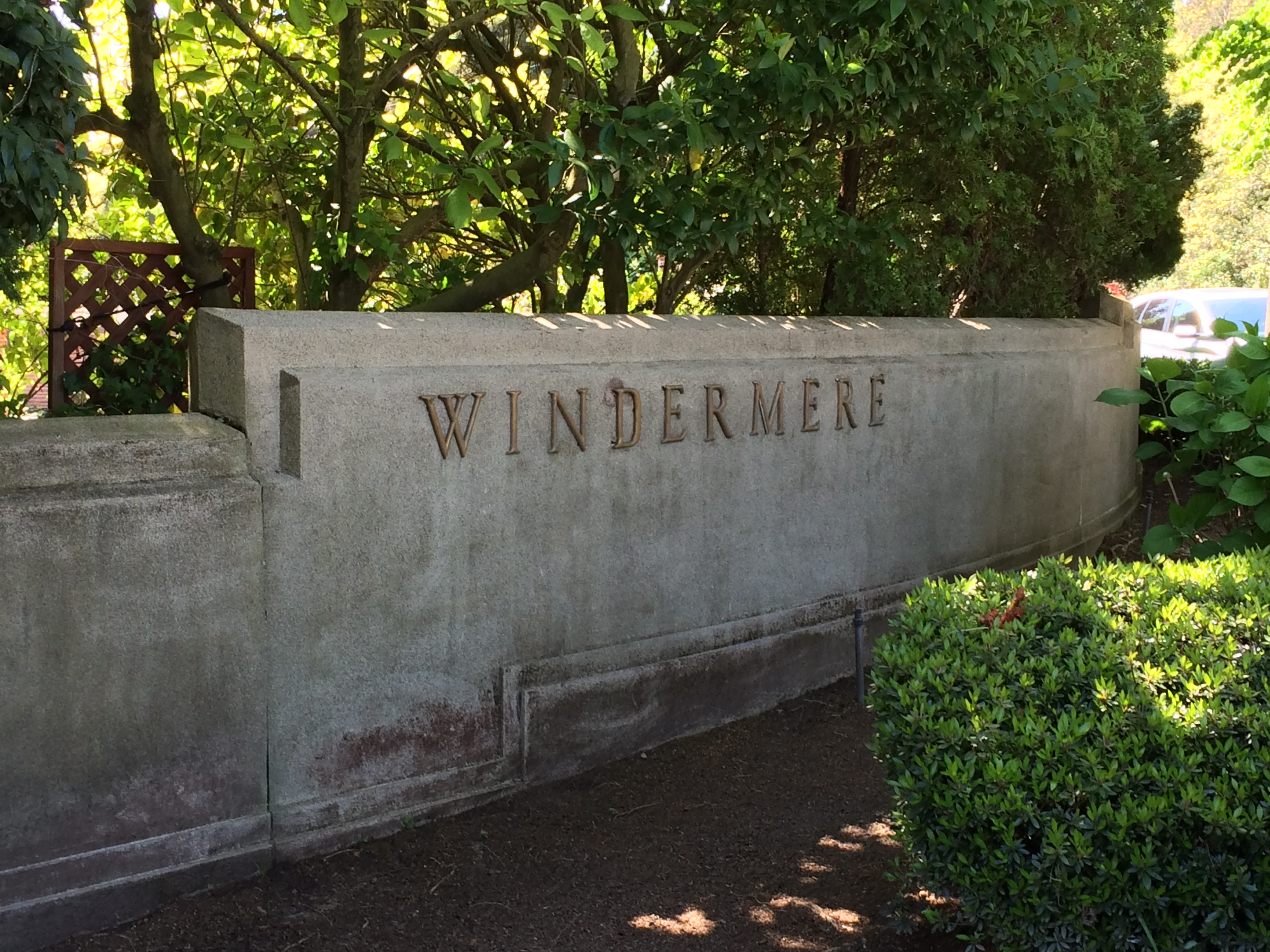 Winderemere – sign