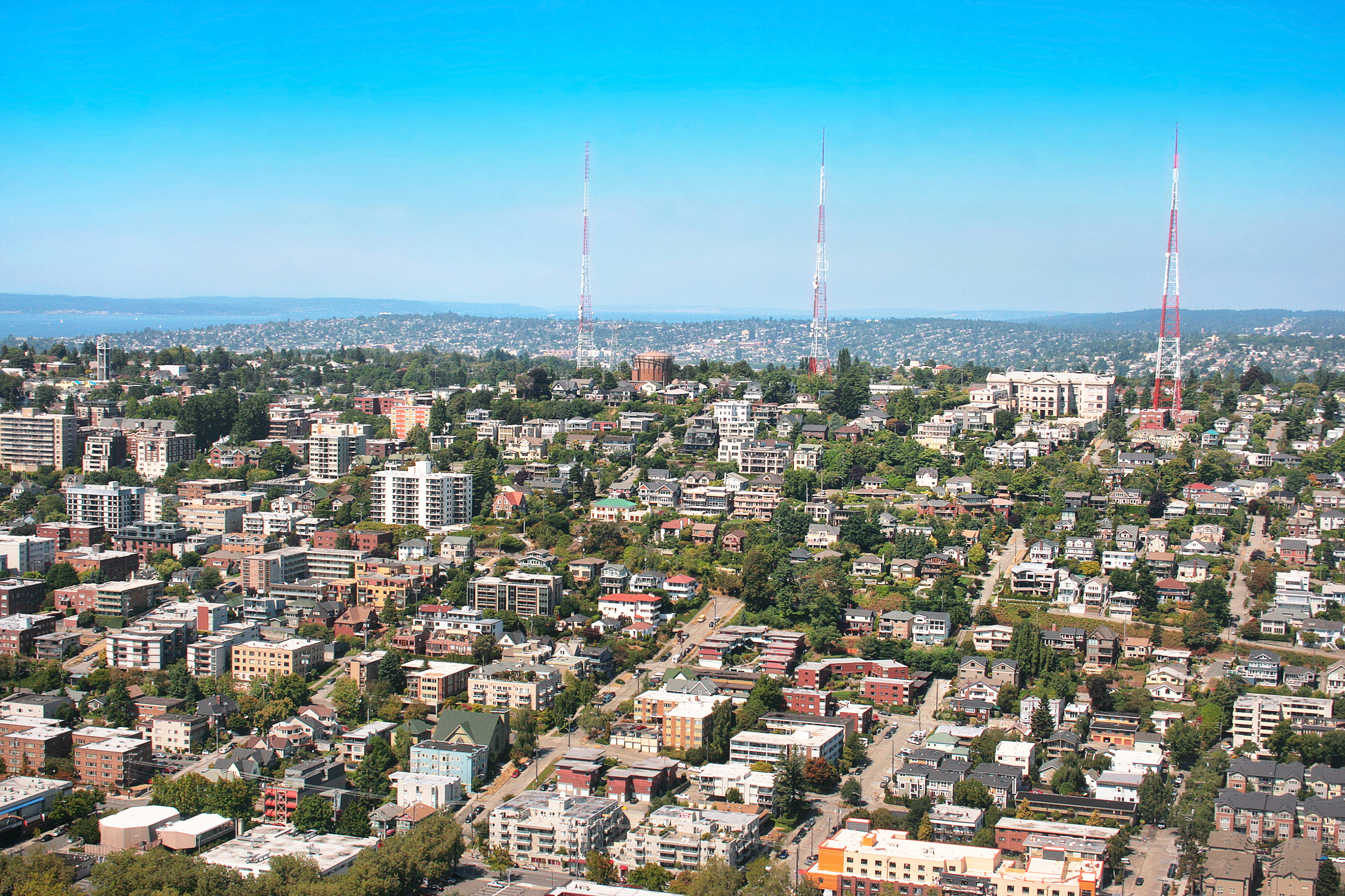 Queen Anne Hill neighborhood in Seattle, Washington
